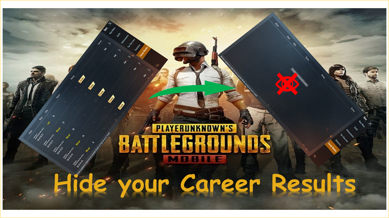 How to Hide your Gaming Career Results in PUBG mobile