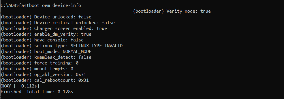 Sample Output Fastboot