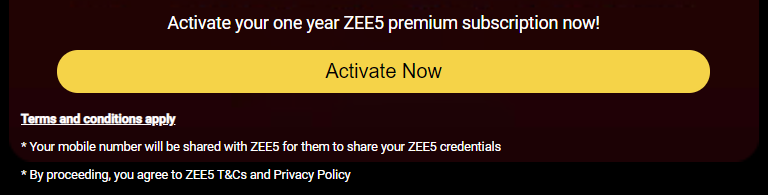 Activate Now - Zee5